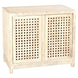 Hudson Modern Classic Beige Mango Wood Media Cabinet