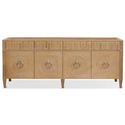 Nora Modern Classic Light Oak Wood Polished Nickel Media Cabinet