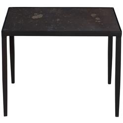 Jacoby Industrial Loft Aged Iron Bronze Mirror Side End Table