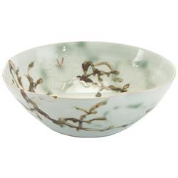 Juliana Modern Classic Green Yellow Glazed Porcelain Bowl - 16 Inch