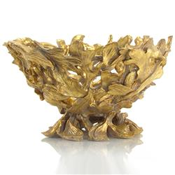 Novalie Modern Classic Antique Gold Twisted Branch Bowl | JR-JRA-8954