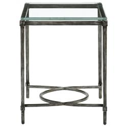 Chase Industrial Loft Blackened Grey Iron Side End Table