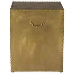 Emil Hollywood Regency Patina Brass Side End Table