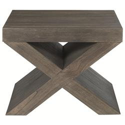 Oberon Rustic Lodge Portobello Wood Bunching Side End Table