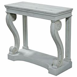 Gabin French Country Weathered Grey Wood Architecture Console Table
