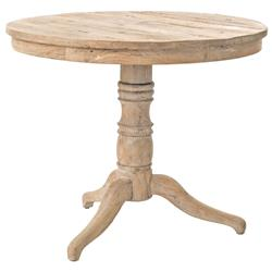 Delon French White Wash Reclaimed Pine Bistro Table