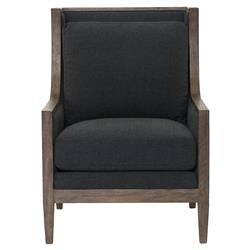 Bolton Lodge Charcoal Wood Wing Chair
