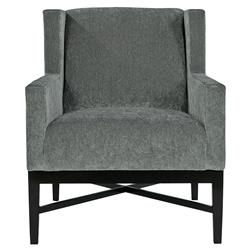 Hopper Modern Classic Mocha Wood Dark Grey Armchair