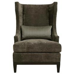 Ryker Modern Classic Mocha Wood Dark Grey Armchair