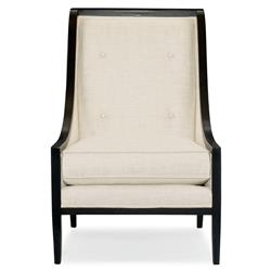 Aria Modern Classic Mocha Wood Ivory Living Room Chair