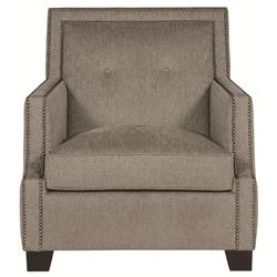 Bexley Modern Classic Mocha Wood Taupe Armchair