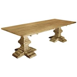 Alain French Country Reclaimed Elm Rectangular Dining Table