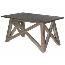 Marx Industrial Loft Elm Wood Zinc Metal Table Desk