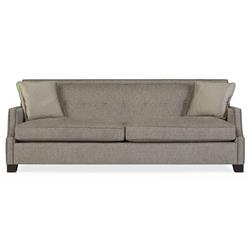 Bexley Modern Classic Mocha Wood Taupe Sofa | Kathy Kuo Home