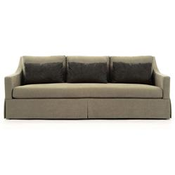 Isabel Coastal Beach Skirted Base Taupe Sofa