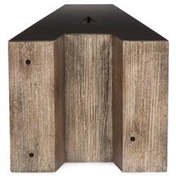 Bea Industrial Loft Alphabet Letter A Wood Side Table