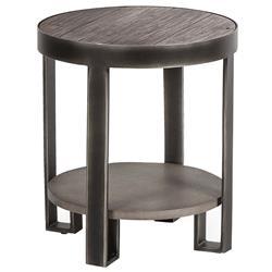 Owen Industrial Loft 2 Tier Brushed Metal Side Table