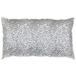 Nikki Silver Jeweled Beaded Pillow - 12x20