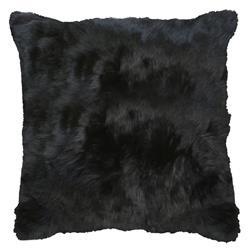 Roberta Black Peruvian Alpaca Fur Pillow - 20x20