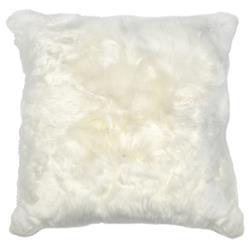 Roberta Ivory Peruvian Alpaca Fur Pillow - 20x20