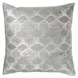 Jem Boa Print Silver Satin Pillow - 20x20