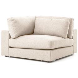 Cornerstone Modern Classic Beige Linen Corner Wedge Chair