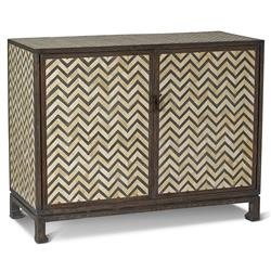 Bukit Global Bazaar Grey Bone Herringbone 2 Door Cabinet
