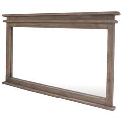 Stanton Rustic Lodge Ash Reclaimed Wood Wall Mirror
