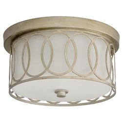 Annastacia Modern Classic Silver Leaf Fusion Ring Ceiling Mount