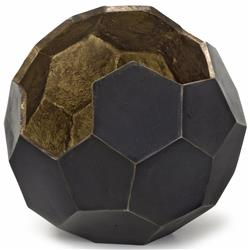 Regina Andrew Polyhedron Midnight Gold Hexagon Vase Bowl - 8.5 Inch