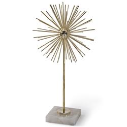 Asteria Hollywood Regency Spike Burst Brass Sculpture - 19.5 Inch