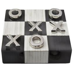Regina Andrew Tic Global Bazaar Nickel Bone Tic Tac Toe Game Set