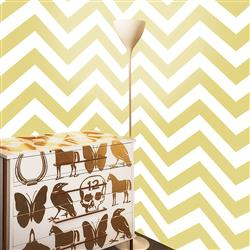 Chevron Modern Classic Yellow White Removable Wallpaper
