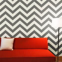 Chevron Modern Classic Light Dark Grey Removable Wallpaper