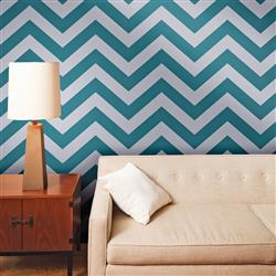 Chevron Modern Classic Grey Teal Removable Wallpaper
