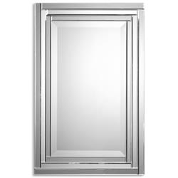 Vanna Modern Classic Beveled Frameless Rectangular Wall Mirror