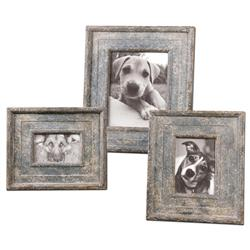 Duke Rustic Lodge Brown Tarnish Photo Frames - Set of 3