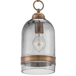 Howe Industrial Loft Smoked Glass Brass Edison Light Pendant