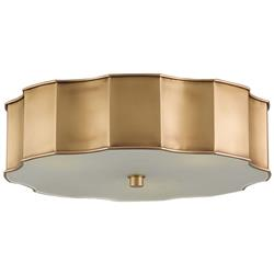 Alastor Modern Classic Antique Brass Scallop Ceiling Mount