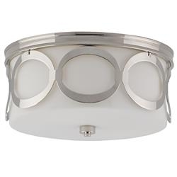 Rosie Modern Classic Polished Silver Ring Round Ceiling Mount