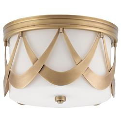 Gibbons Modern Classic Antique Brass  Deco Arch Ceiling Mount