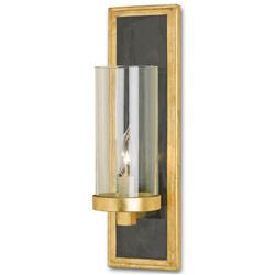 Arzner Hollywood Regency Brass 1 Light Wall Sconce