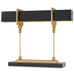 Hamilton Modern Classic  Gold Key  Black Table Lamp - 31.5 Inch
