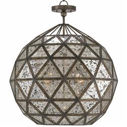 Preeda Global Bazaar Antique Mirror Orb 6 Light Chandelier