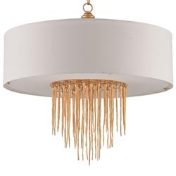 Natalia Hollywood Regency Gold Drips Icicle Chandelier