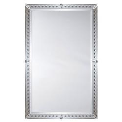 Thomas Modern Classic Mirror Rosettes Venetian Mirror