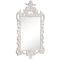 Le Marche Global Bazaar White Lacquer Chippendale Mirror