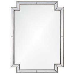Starlet Hollywood Regency Distressed Silver Leaf Frame Wall Mirror