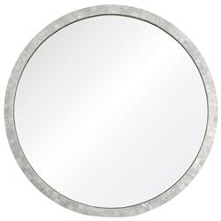 Miami Coastal Beach Round Pearl Shell Frame Mirror - 32D