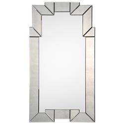 Liz Hollywood Regency Antiqued Deco Frame Arch Mirror